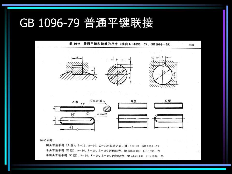 GB 1096-79 普通平键联接
