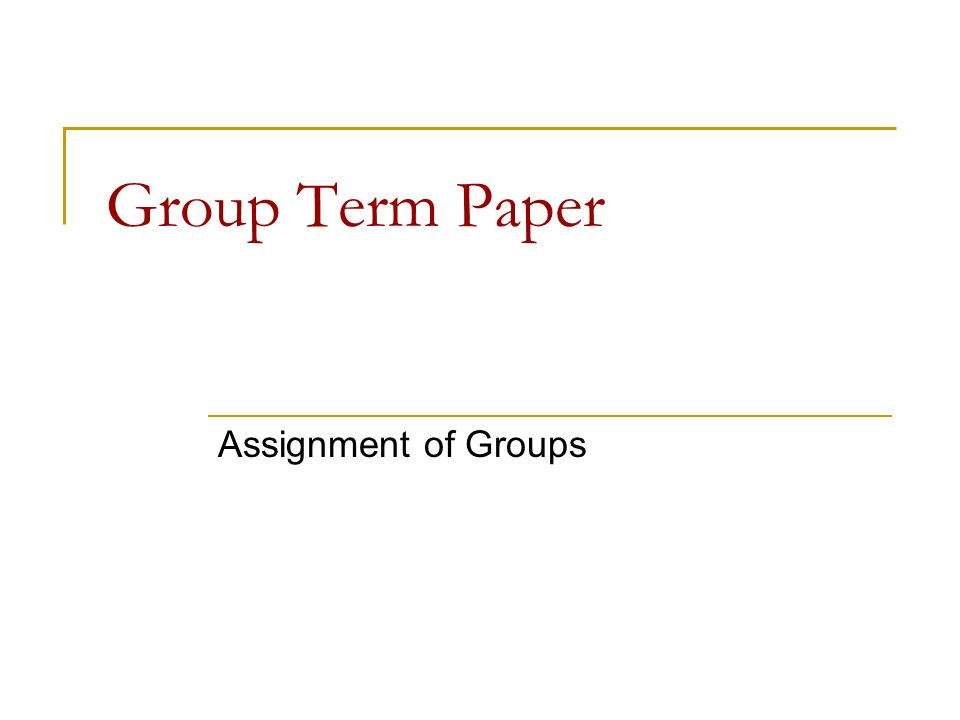 term paper about group