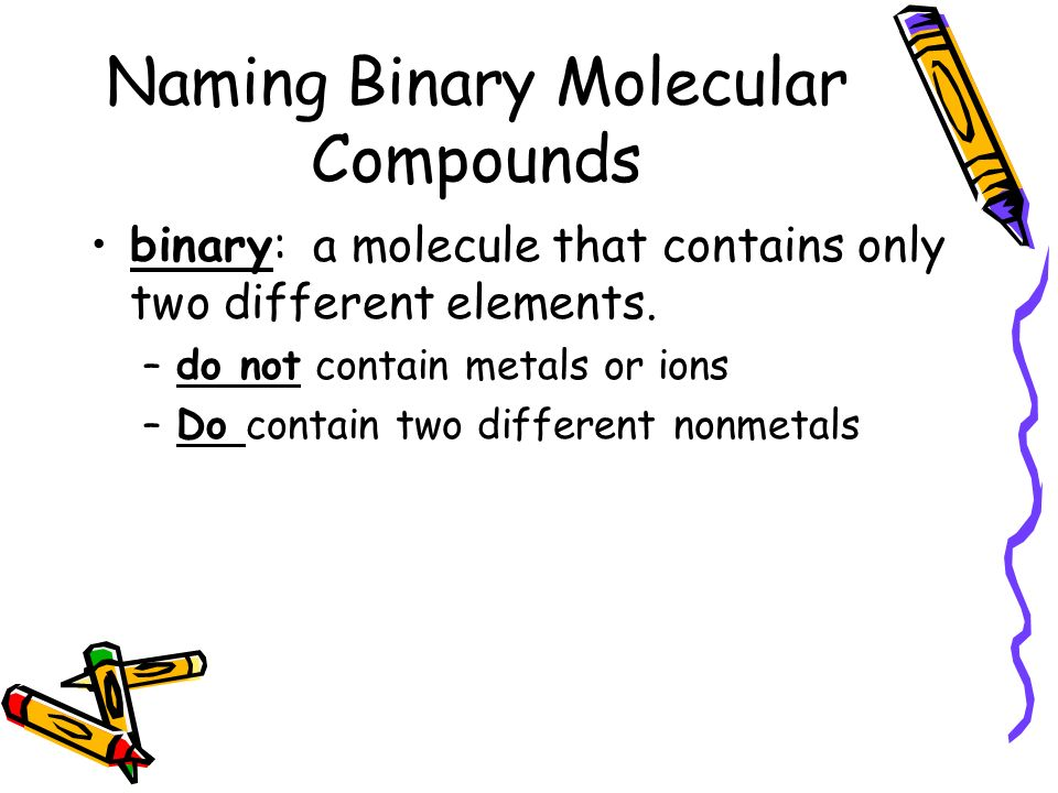 Binary ionic and molecular compounds worksheet a side 2