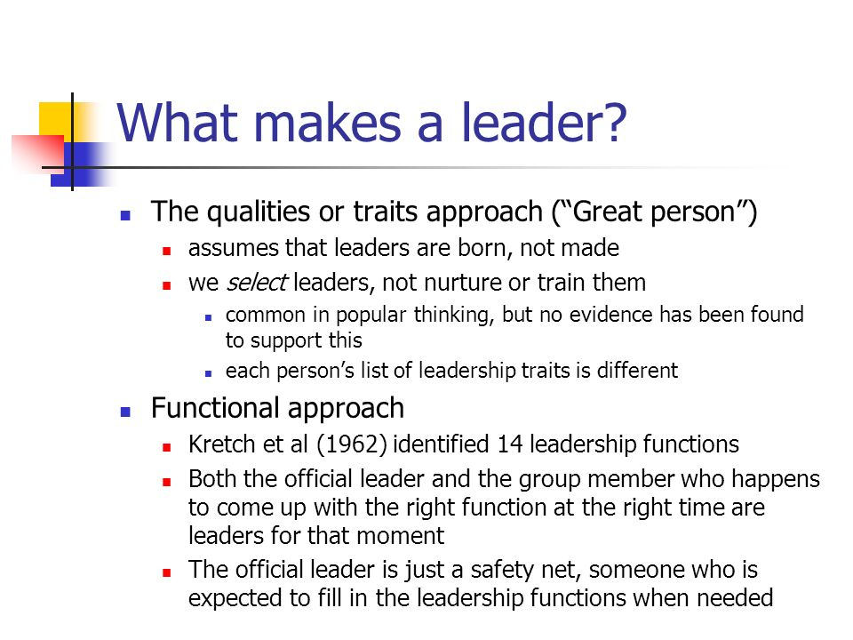 leadership functions