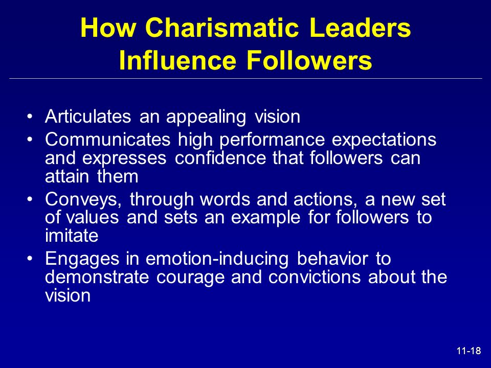 How Charismatic Leaders Influence Followers