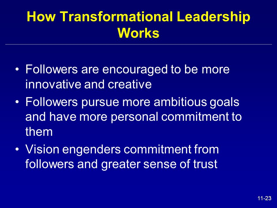 How Transformational Leadership Works