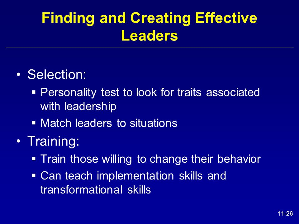 Finding and Creating Effective Leaders