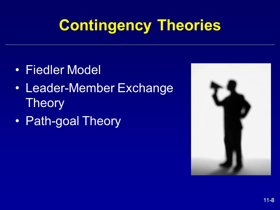 Contingency Theories Fiedler Model Leader-Member Exchange Theory