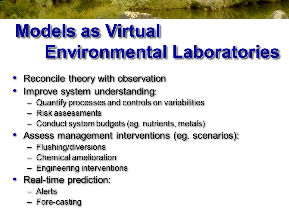 Models as Virtual Environmental Laboratories