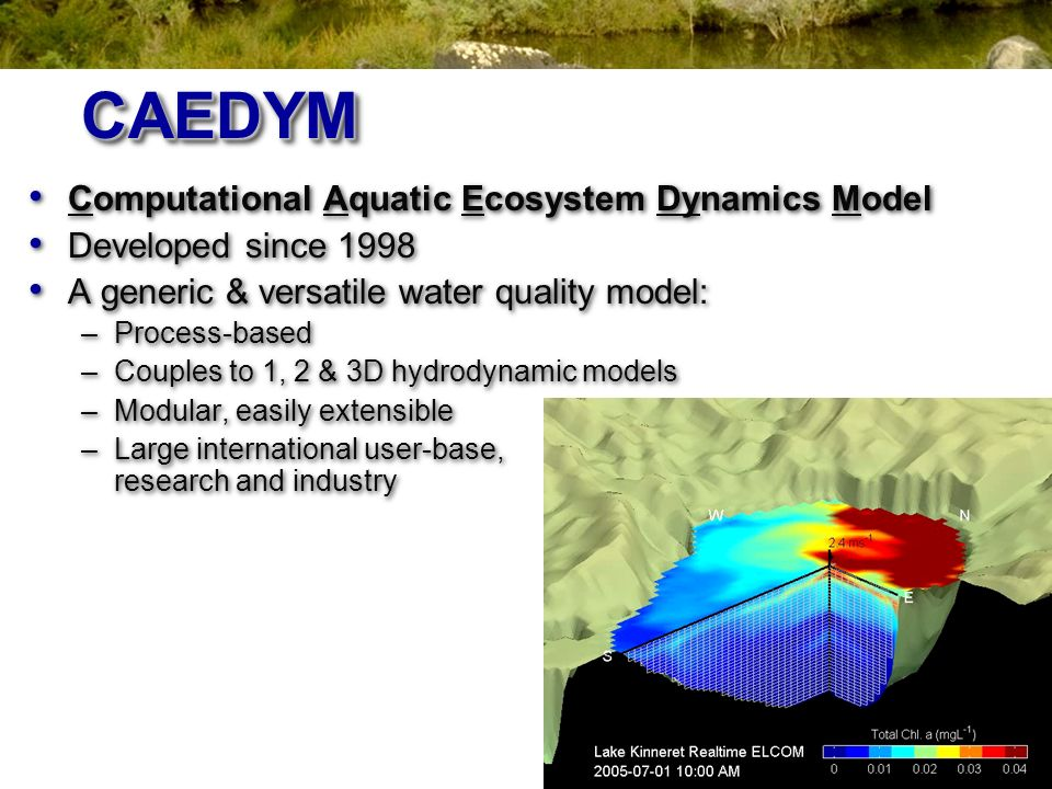 CAEDYM Computational Aquatic Ecosystem Dynamics Model