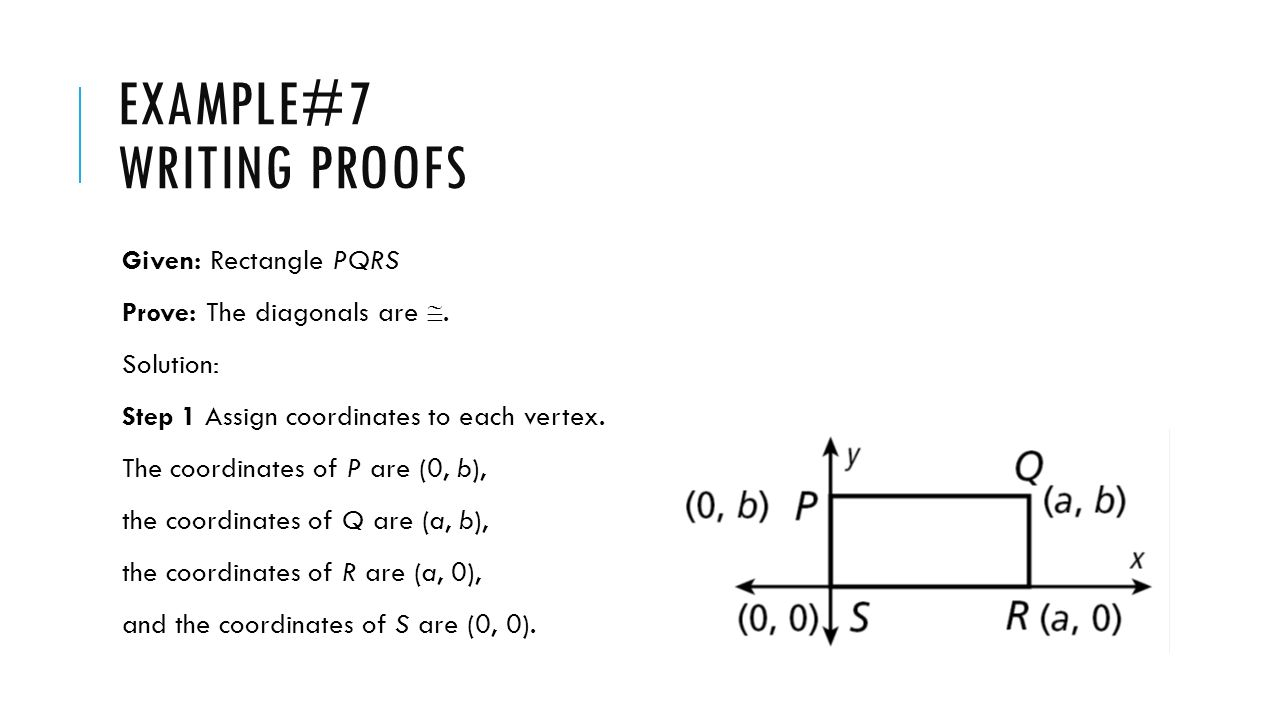 Example#7 Writing proofs