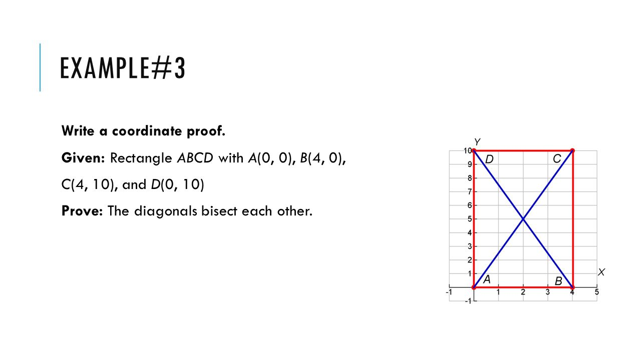 Example#3 Write a coordinate proof.