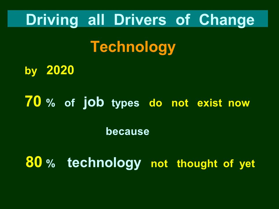 Driving all Drivers of Change