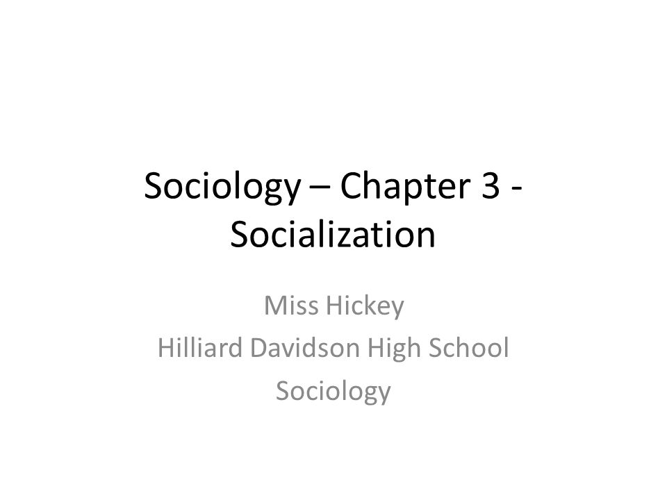 sociology 3 View homework help - sociology 3 text questions from soc 3 at grandview high school, grandview 1 what is socialization and why is it important for humans socialization is the process.