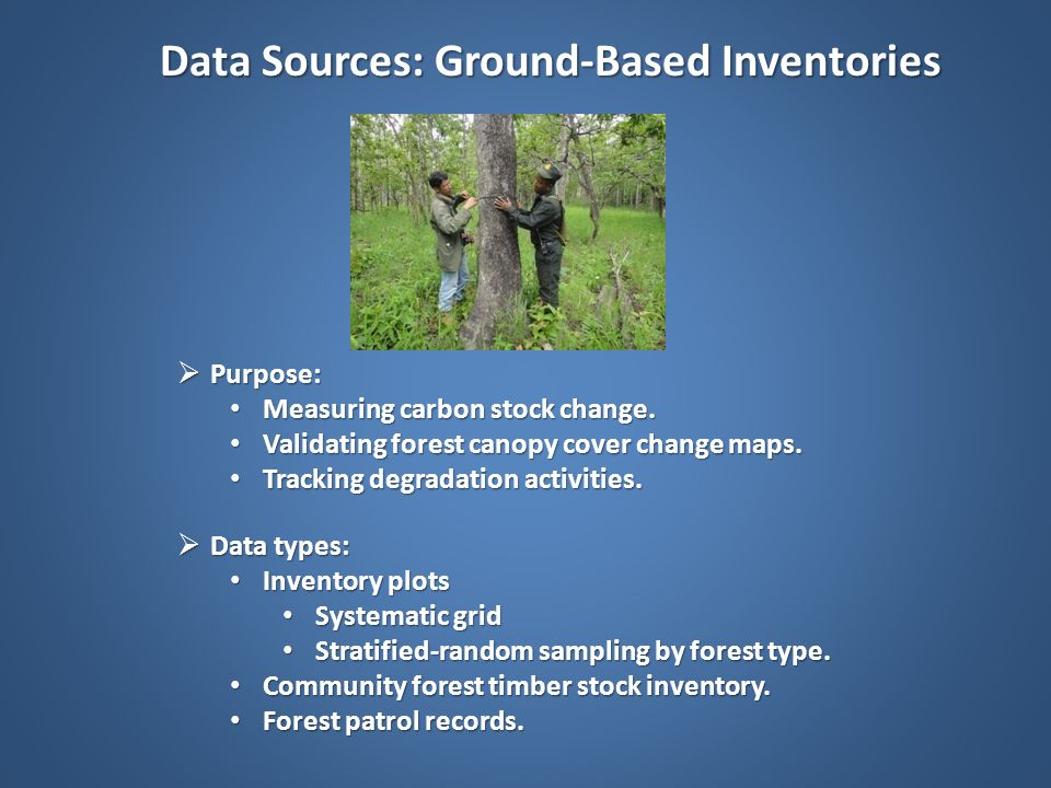 Data Sources: Ground-Based Inventories