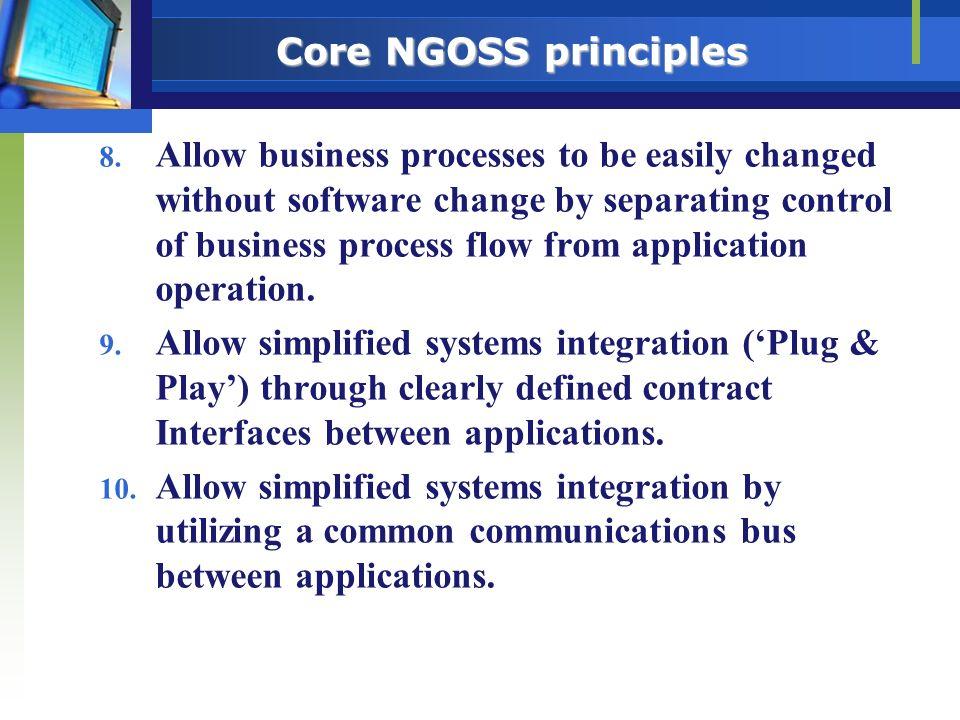 Core NGOSS principles