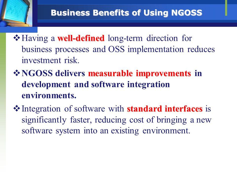 Business Benefits of Using NGOSS