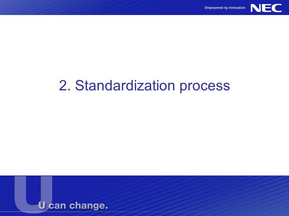 2. Standardization process