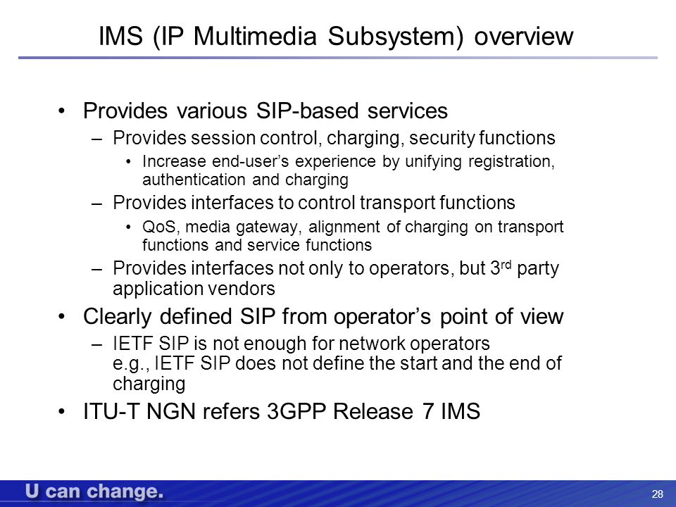 IMS (IP Multimedia Subsystem) overview
