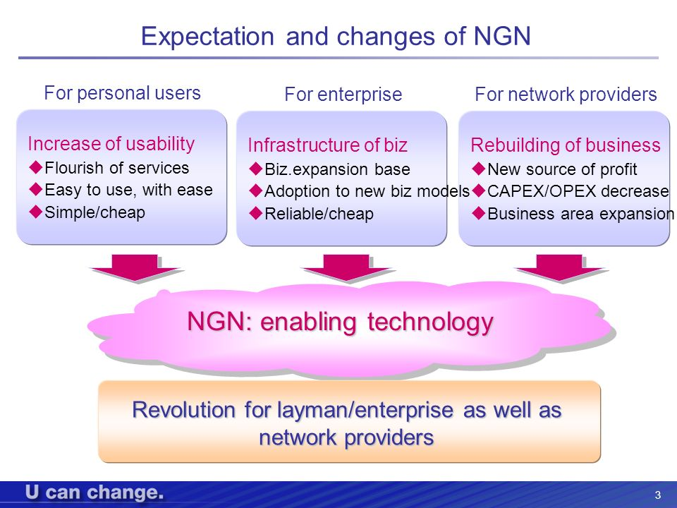Expectation and changes of NGN