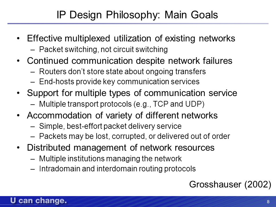 IP Design Philosophy: Main Goals