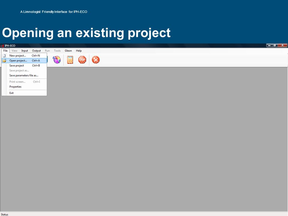 Opening an existing project