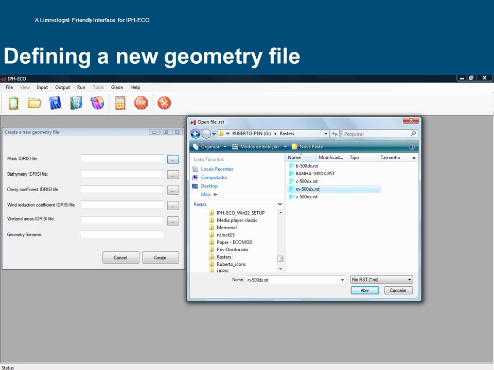 Defining a new geometry file