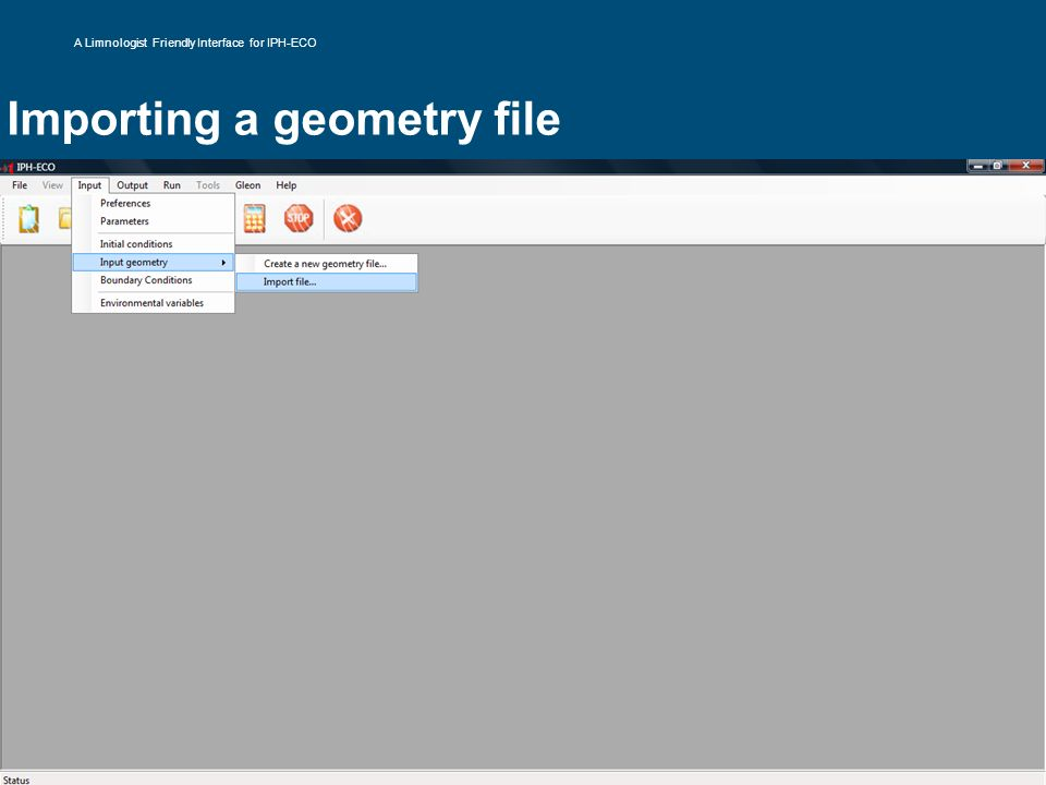 Importing a geometry file