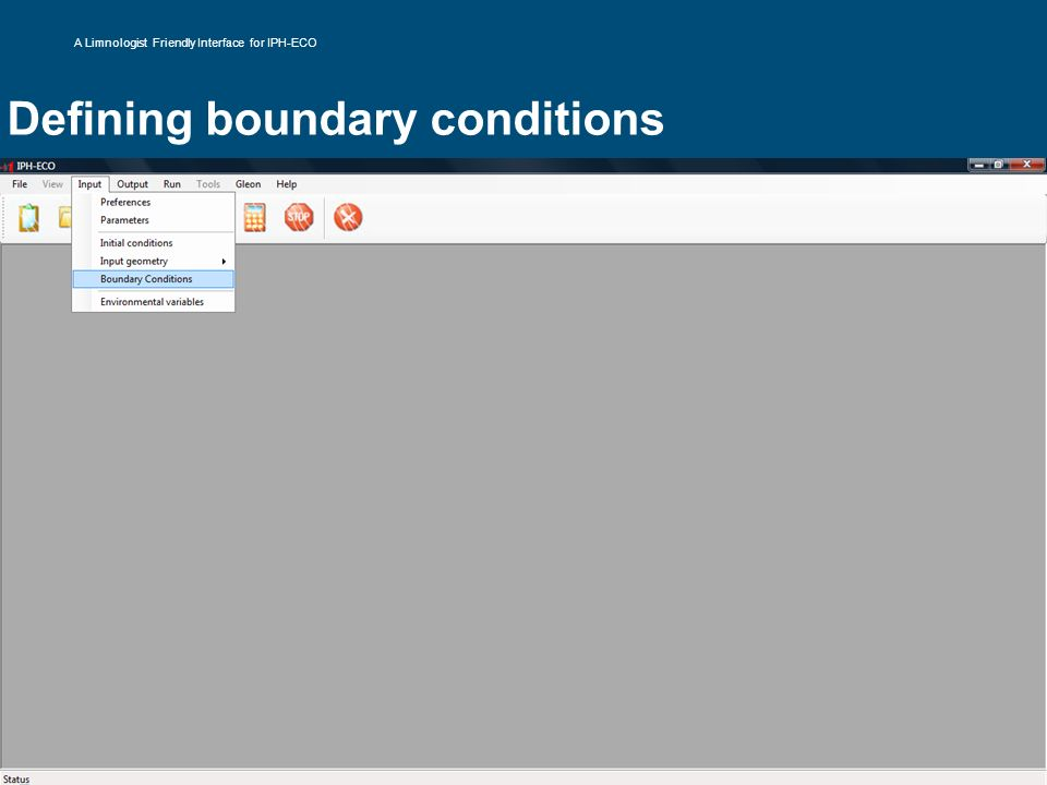 Defining boundary conditions