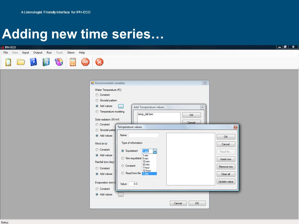 Adding new time series…