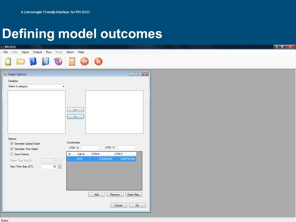 Defining model outcomes