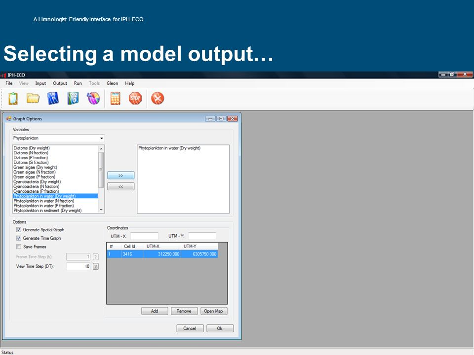 Selecting a model output…