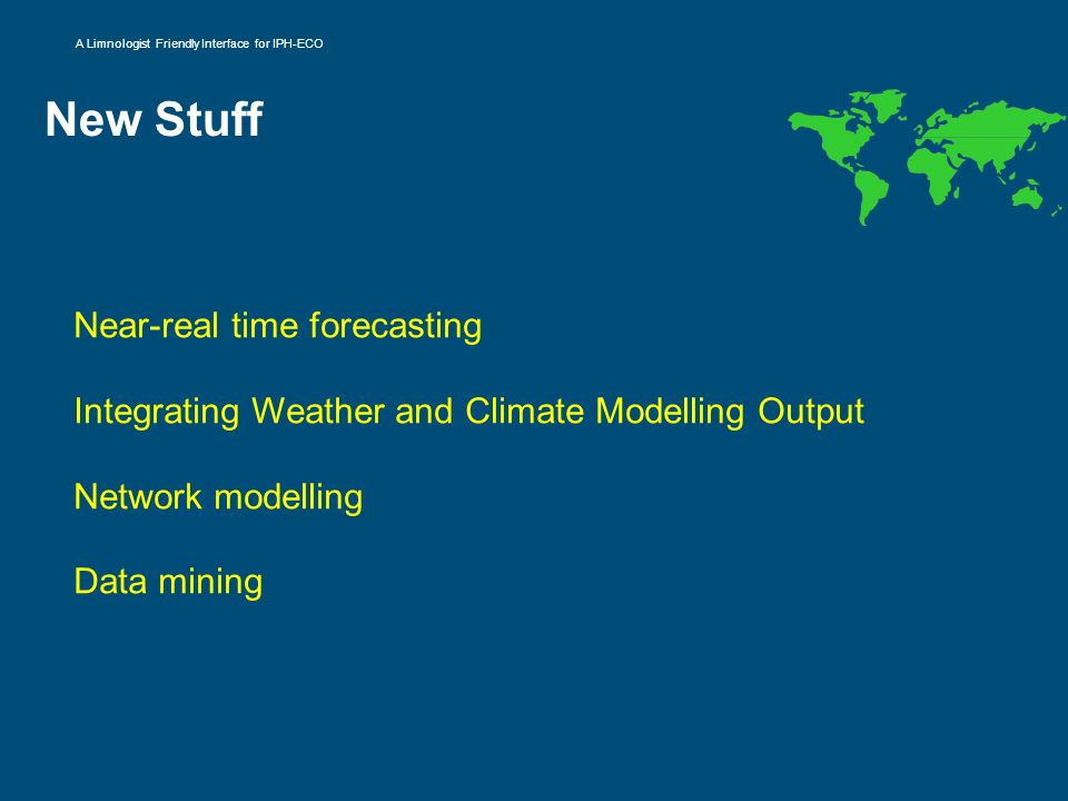 New Stuff Near-real time forecasting