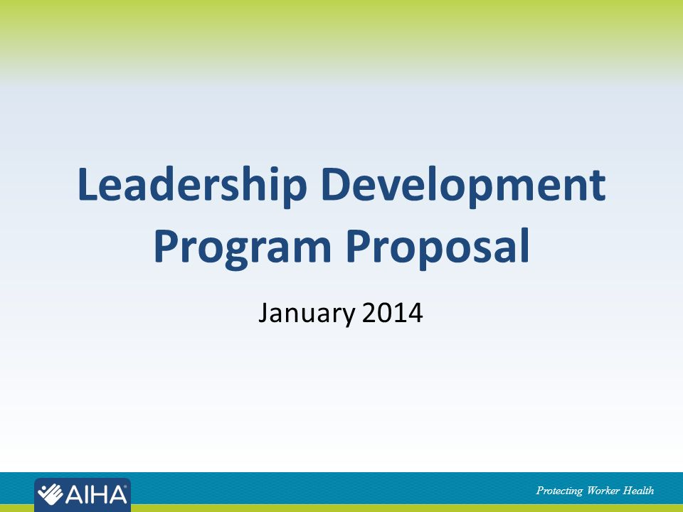Leadership Development Program Proposal  Ppt Download