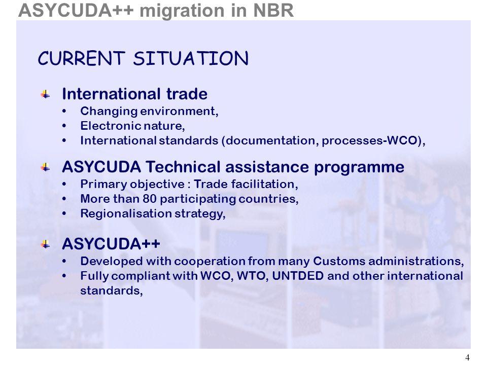 ASYCUDA++ migration in NBR