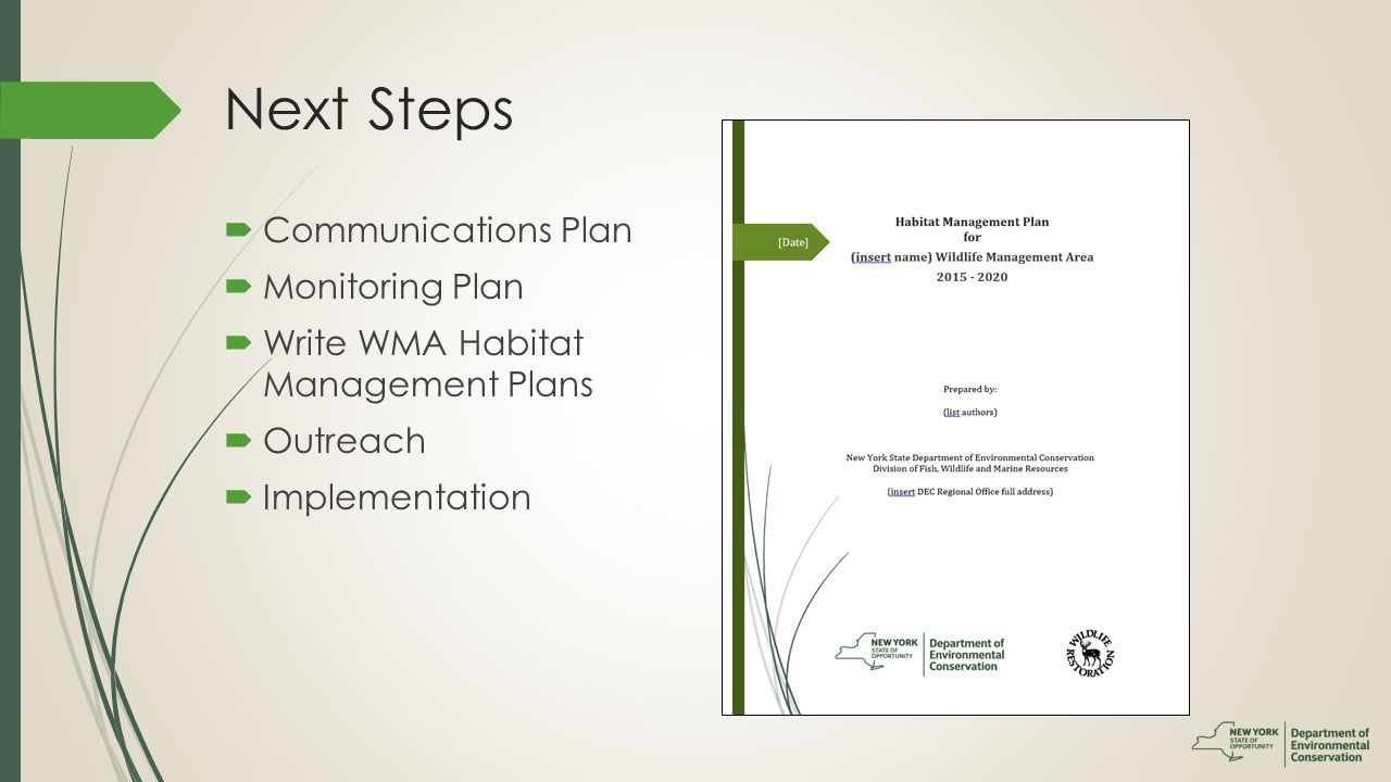 wildlife management plan template - young forest initiative ppt download