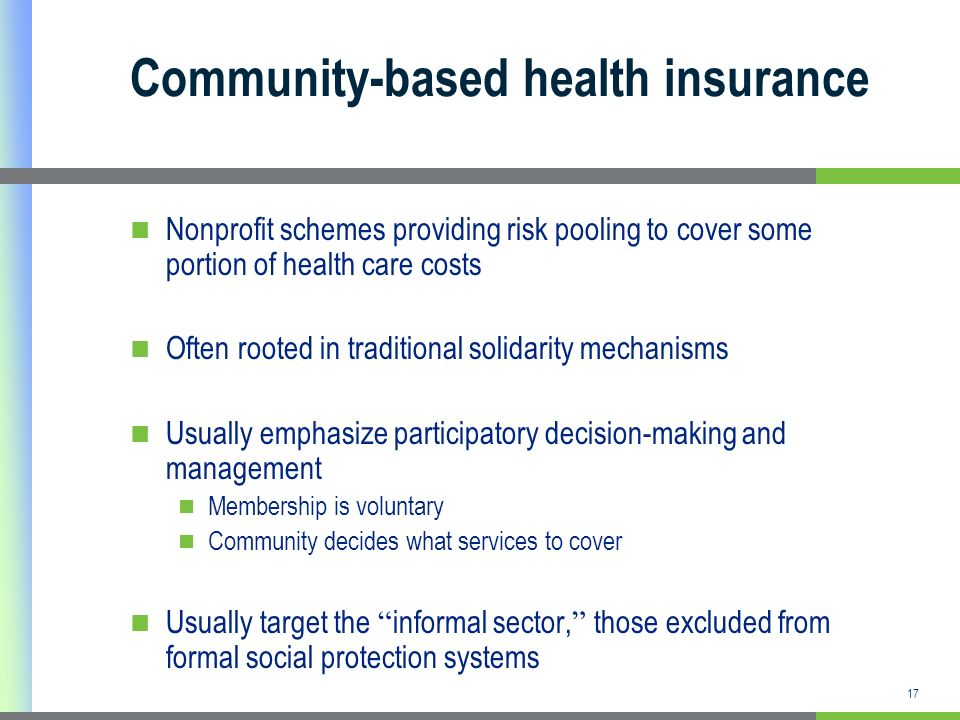 Community-based health insurance