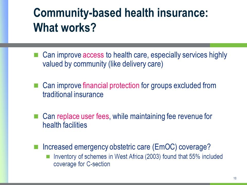 Community-based health insurance: What works