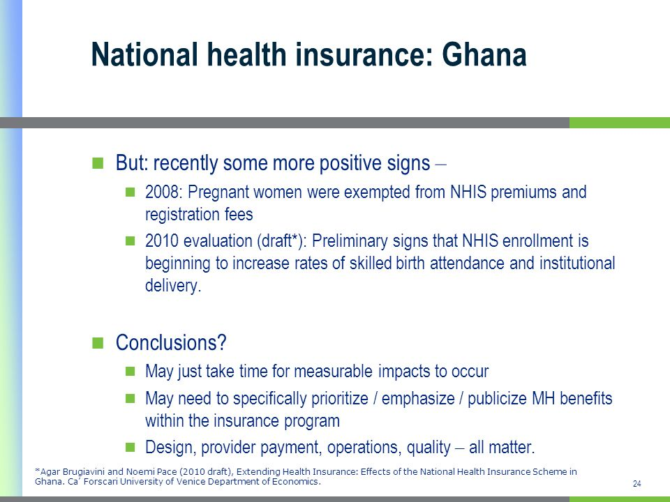 National health insurance: Ghana
