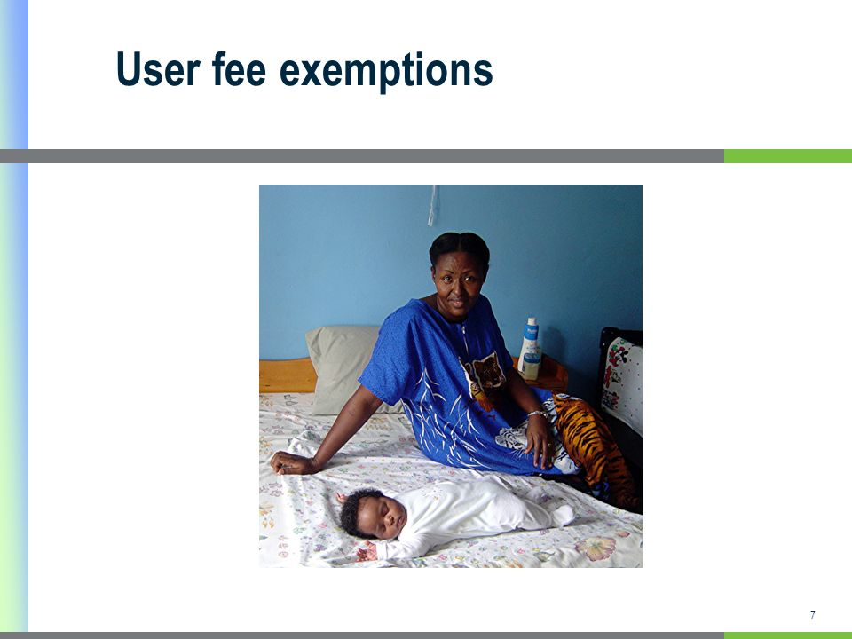 User fee exemptions