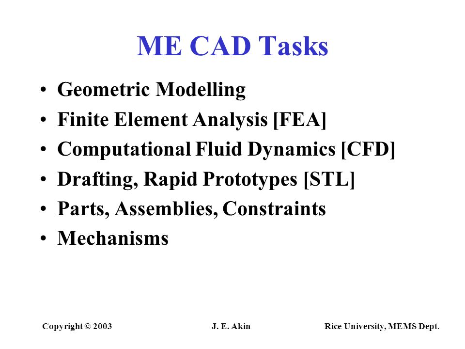 computer aided mechanical design - ppt video online download, Presentation templates