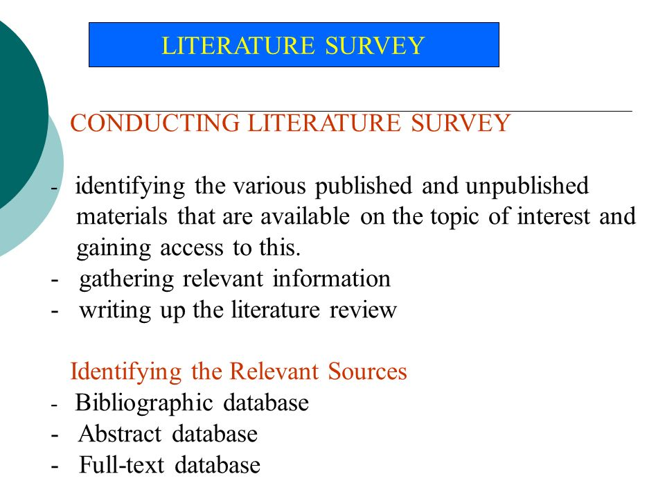 database management system literature review
