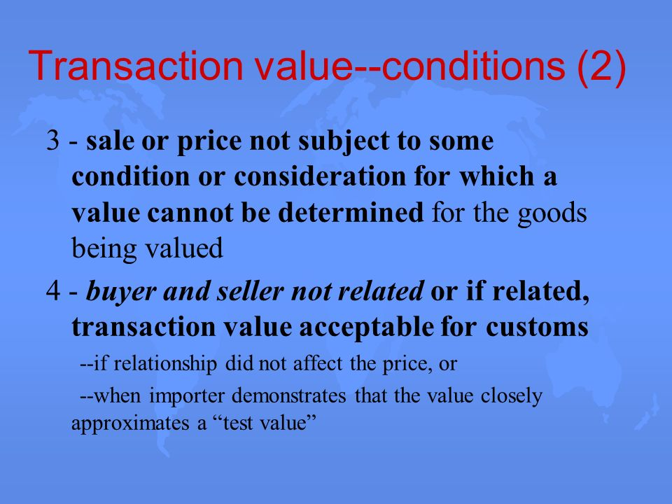 Transaction value--conditions (2)