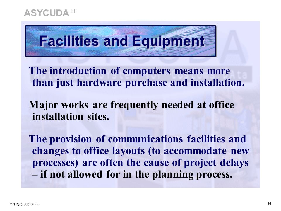 Facilities and Equipment