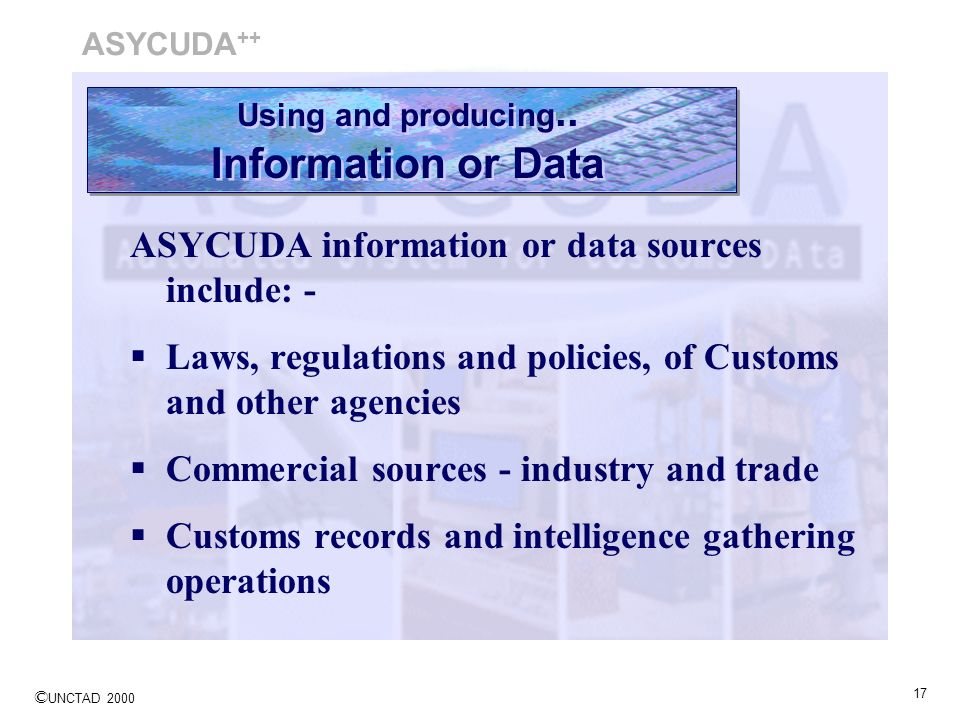 Using and producing.. Information or Data