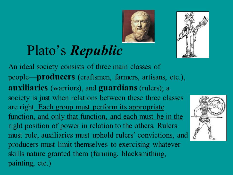 platos ideal society Is plato's vision for a good society incompatible with real justice itself  composed of the guardians and the rulers, some of whom, as in aristotle's ideal society.