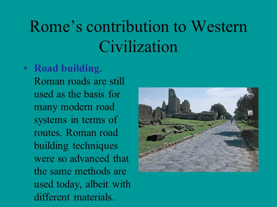 roman contributions to western civilization essay The western civilization is one of the most popular assignments among students' documents if you are stuck with writing or missing ideas, scroll down and find inspiration in the best samples.