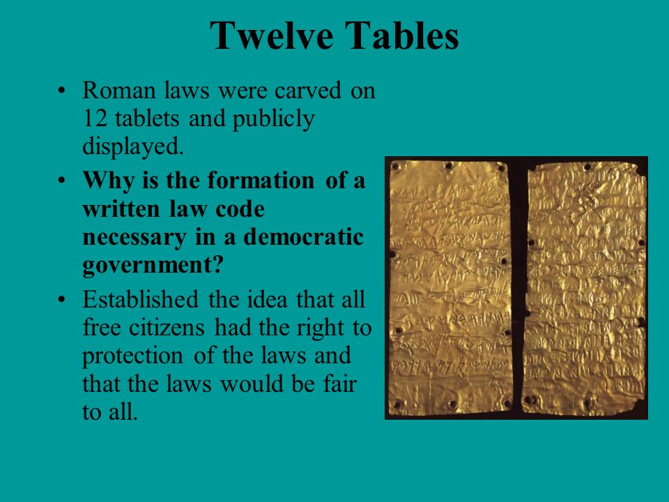 Prologue rise of democratic ideas ppt video online download for 12 table laws