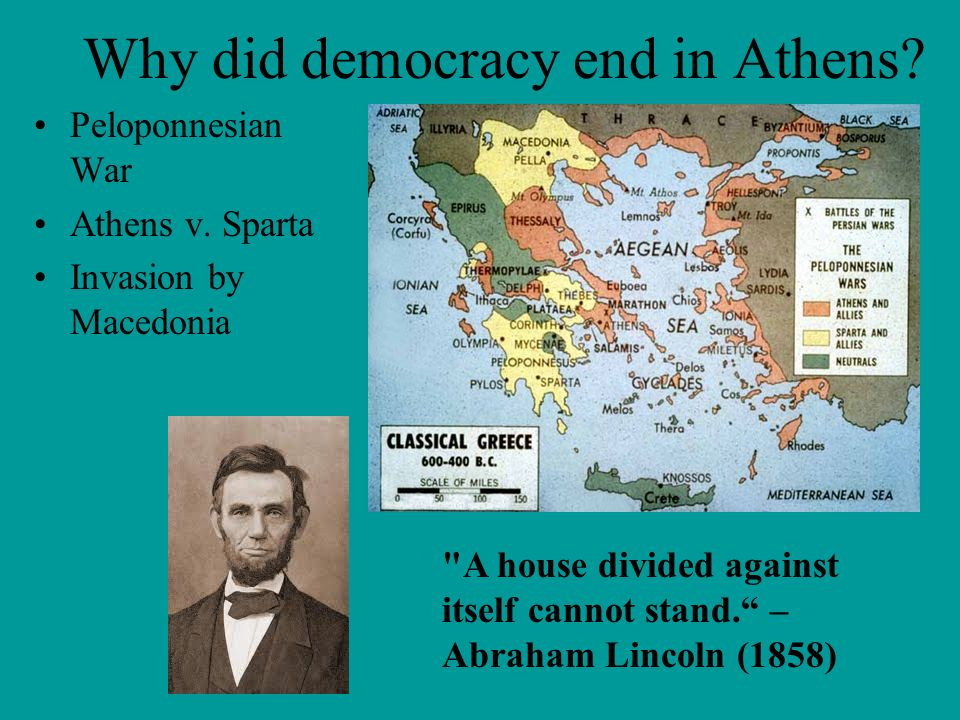 Why did democracy end in Athens