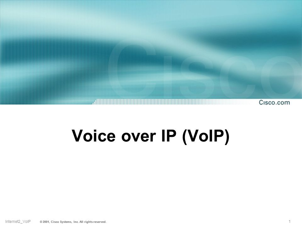 Voice over IP (VoIP). - ppt download