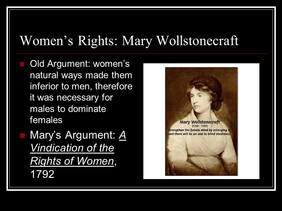 An analysis of mary wollstonecraft a vindication of the rights of women