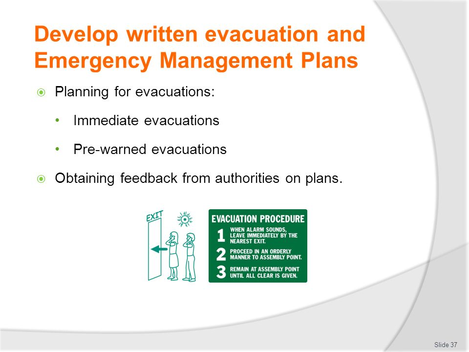 how to develop an evacuation plan for a hospital