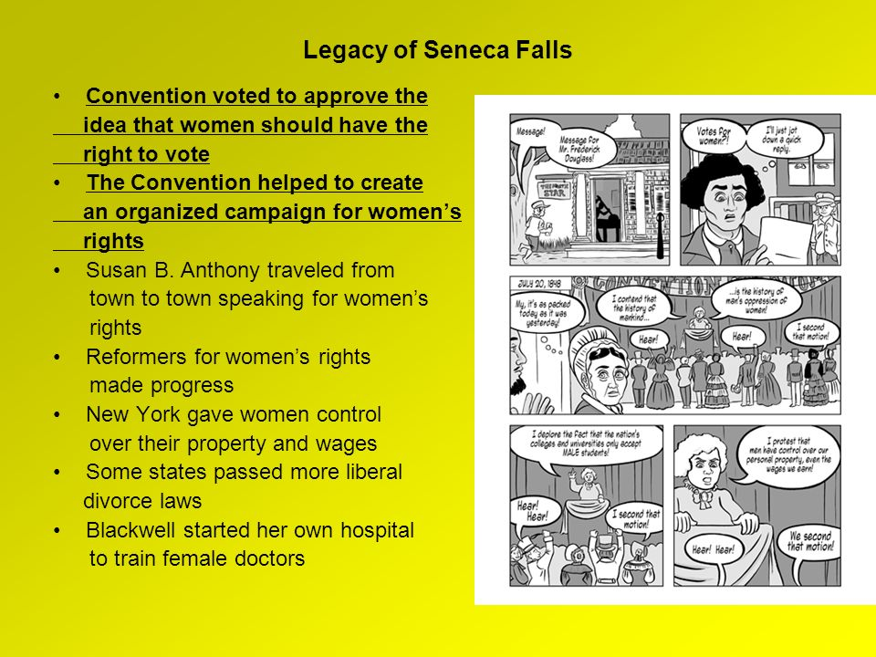 Legacy of Seneca Falls Convention voted to approve the
