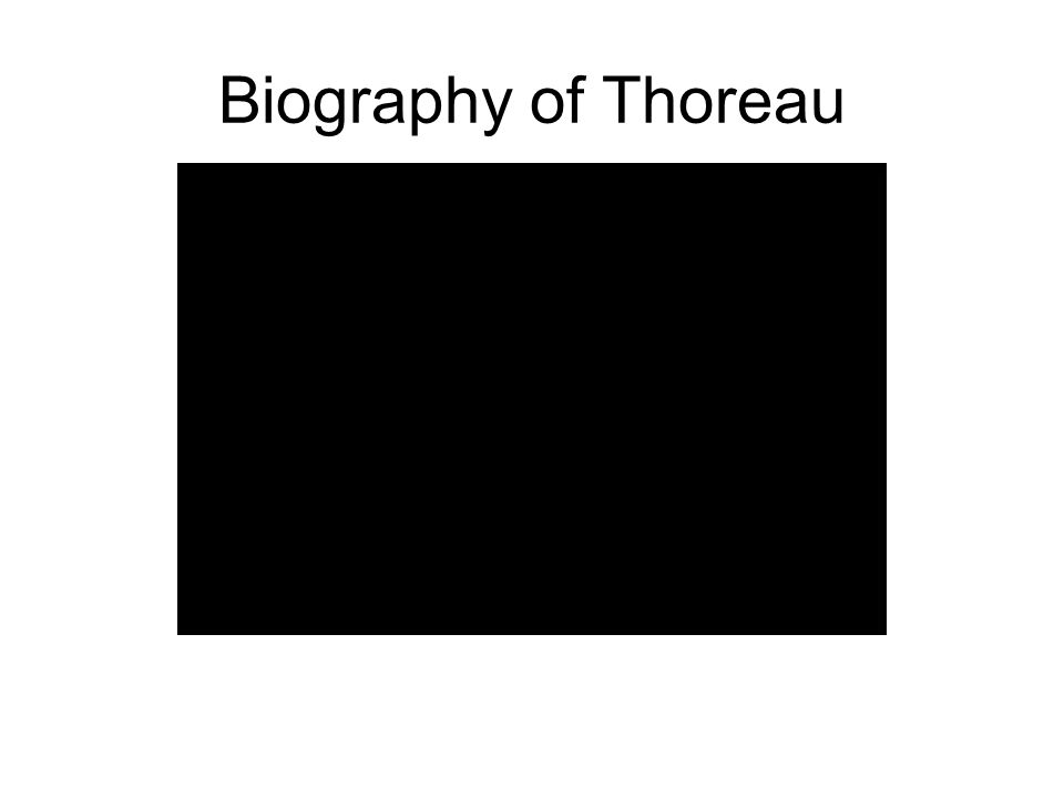 Biography of Thoreau